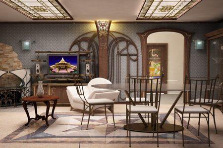 Гостиная в стиле модерн Калининград